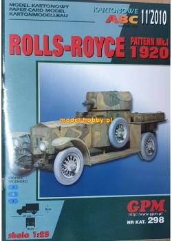 Rolls-Royce Pattern Mk.I - 1920