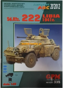 SdKfz 222 - LIBIA 1941