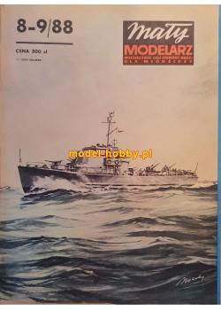 1988/8-9 - Ścigacz okrętów podwodnych typu KRONSZTAD