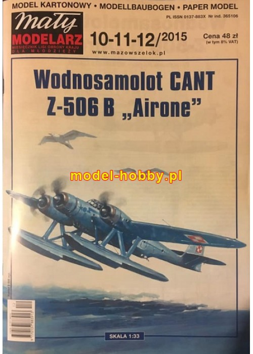 """2015/10-11-12 - CANT Z-506B - """"AIRONE"""""""