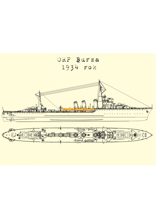 ORP Burza (1934 - 1939) and laser frames
