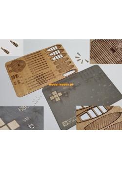 IJN Shimushu - set of laser cut details (No.3)