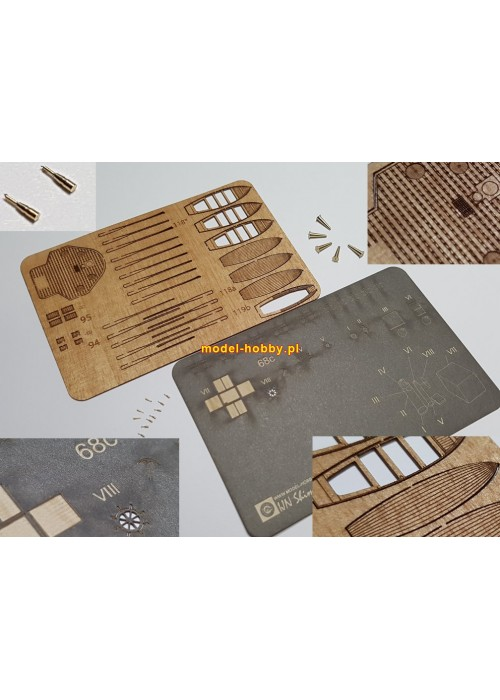 IJN Shimushu set of laser cut details (No.3)