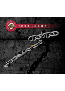 Anchor chain stopper (4 pcs) - Ship chain (D-2.03 x L-3.15 mm) - 20 cm (resin)