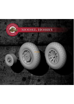 North American P-51 Mustang - resin wheels