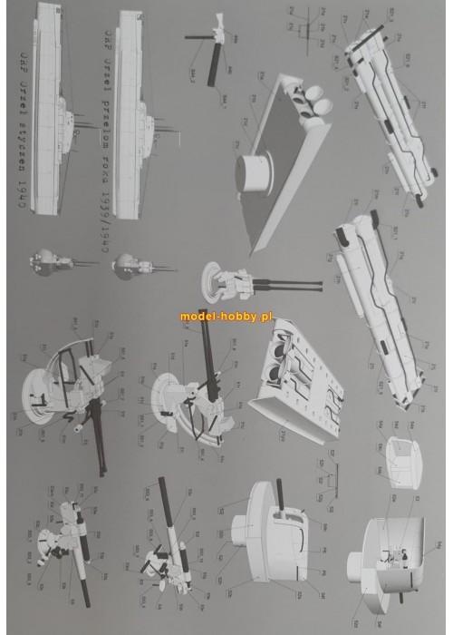 ORP Orzel (1940) and laser frames