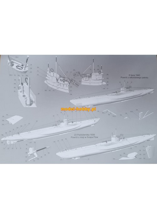 DKM U-boot Typ VIIB - (U-47 Gunther Prien) and laser frames
