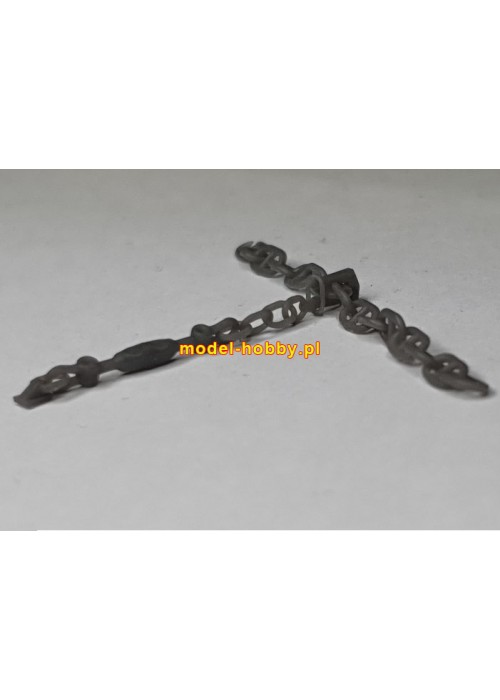 Anchor chain stopper (4 pcs) - Ship chain (D-2.60 x L-3.80 mm) - 20 cm (resin)