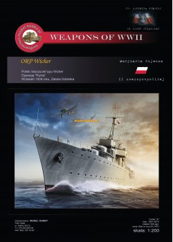 ORP Wicher (1934 - 1939) and laser frames